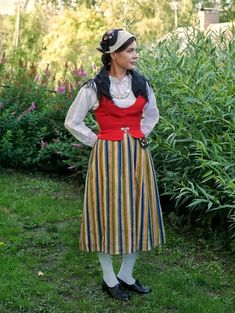 National costume of Laitila, Finnish national costume Folk Costume, Costumes, Collection, Vintage, Dresses, Crafts, Fashion, Outfits, Vestidos
