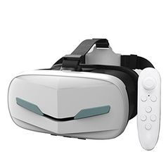 VR Headset Virtual Reality Glasses 2017 Newest 3D With Remote Controller for iPhone  Android  Play Your Best Mobile Games  360 Movies With Soft All Android Smartphone  Comfortable New Goggles * You can get more details by clicking on the image.Note:It is affiliate link to Amazon. #VirtualReality