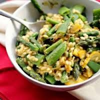 Asparagus, Pea and Bean Risotto