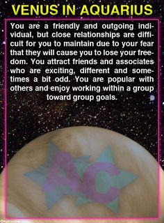 Venus in Aquarius | #venusinaquarius #zodiac #astrology