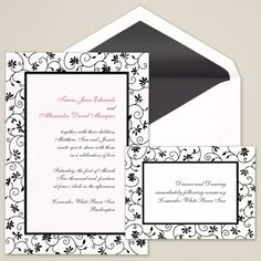 Garden Party Wedding Invitation | #exclusivelyweddings | #blackandwhitewedding
