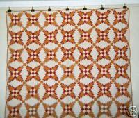 """Snowflake"" Quilt 64"" x 74"" C 1920's Adirondack NY | eBay"