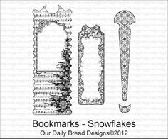 Bookmarks - Snowflakes - Cling Rubber Stamps by Our Daily Bread Designs ($18.59)
