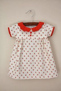 Free Baby Clothes Patterns Free pattern/tutorial for this adorable vintage-style baby dress with short sleeves. Plus, browse over 200 more free baby clothes patterns! Baby Clothes Patterns, Vintage Sewing Patterns, Clothing Patterns, Sewing Ideas, Toddler Dress Patterns, Pattern Sewing, Sewing Projects, Free Baby Sewing Patterns, Baby Girl Patterns