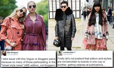 Vogue calls fashion bloggers 'pathetic', and bloggers are firing back