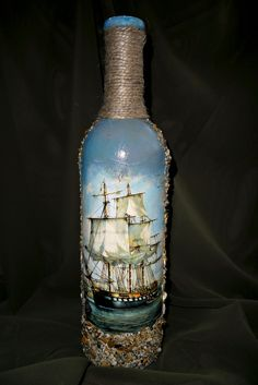 """Бутылка """"Корабли"""""""