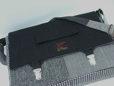 Messenger+Bag+Laptop+Sleeve+Trunk+Latch++Large+by+SewMuchStyle,+$120.00