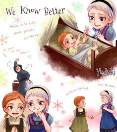 Me and my sister love frozen! Frozen Fan Art, Frozen And Tangled, Disney Princess Frozen, Frozen Movie, Disney Princess Drawings, Anna Frozen, Disney Artwork, Disney Fan Art, Disney Memes