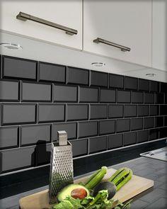 Metro-Fliese cm schwarz Metro tile black glossy in the format cm with bevelled edge. Shed Design Plans, Shed Plans, Stone Kitchen, Kitchen Backsplash, Metro White, 3d Wall Clock, Black Backsplash, Macrame Wall Hanging Patterns, Metro Tiles
