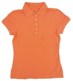 IZOD Women's Short Sleve Solid Polo (Peach, Small) IZOD. $15.95