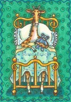 GIRAFFE IN A BRASS BED - Susan Brack