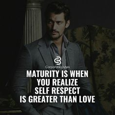maturity is wehn you realize self respect is greater than love Boss Quotes, Strong Quotes, Attitude Quotes, True Quotes, Positive Quotes, Qoutes, Positive Vibes, Inspirational Quotes About Success, Success Quotes