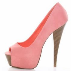 Coral peep-toe <3 I've always been obsessed with coral... my bridesmaids wore coral :)