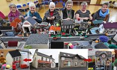 May Aitcheson's army of knitting enthusiasts have created an impressive model of Cloughmills, the tiny village, in County Antrim, Northern Ireland, where they live. Model Village, Awesome Things, Northern Ireland, Knitting, Create, Mail Online, Daily Mail, Army, Australia