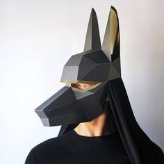 La máscara de ANUBIS PRECORTADO-todo lo que necesitas es