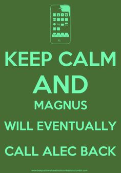 The Mortal Instruments #Magnus #Alec