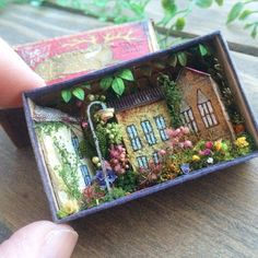 Miniature matchbox scene