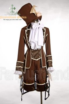Fanplusfriend Dandy/Ouji Gothic False Vest Jacket,Breeches,Magician Large Hat