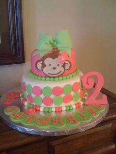 Monkey cake for a birthday.