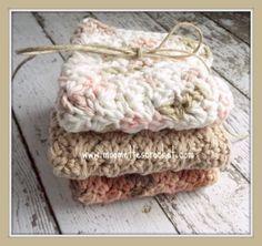 Eco Friendly Wash Cloths Crochet Kitchen by MoomettesCrochet, $15.00