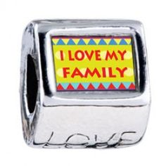 I Love My Family Photo Love Charms  Fit pandora,trollbeads,chamilia,biagi,soufeel and any customized bracelet/necklaces. #Jewelry #Fashion #Silver# handcraft #DIY #Accessory