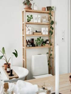 home decor for small spaces my scandinavian home: 10 Clever Small Space Tricks To Learn From a Lovely Swedish Apartment - storage around the toilet! Scandinavian Apartment, Scandinavian Home, Scandinavian Bathroom, Swedish Home Decor, Deco Studio, Diy Casa, Home Decor Inspiration, Decor Ideas, Diy Ideas