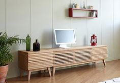 Louvre Wood TV Console