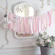 A personal favorite from my Etsy shop https://www.etsy.com/listing/227583366/pink-rag-garland-3-ft-cotton-and-lace