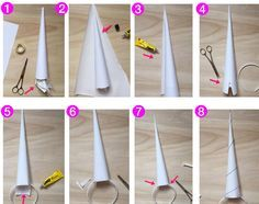 DIY // Einhorn-Kostüm – einfach selber machen DIY // How to make a unicorn. Unicorn costume to do without sewing – more on FAMILICIOUS. Birthday Candy, Unicorn Birthday Parties, Diy Birthday, Narwhal Costume, Diy Unicorn Costume, Diy Unicorn Horns, Little Pony Party, Maquillaje Halloween, Unicorn Cake Topper