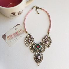 Lovely pink rope necklace. NWT retail necklace  •Same day shipping •Bundle and save!  •Pet & Smoke free Home! •Please check my closet for cute accessories I n s t a g r a m : @ h a v e i t . w e a r i t . l o v e i t Hwl boutique Jewelry Necklaces