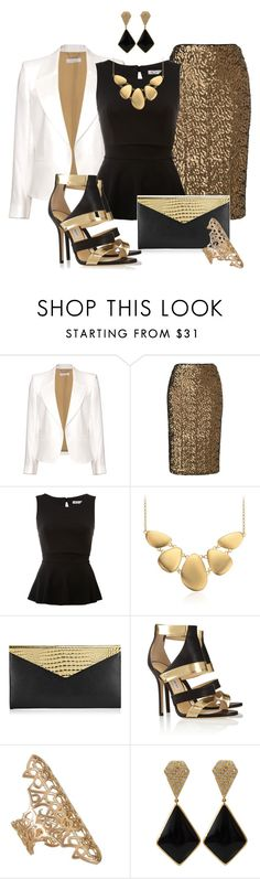"""""""Go for the Gold"""" by justbeccuz ❤ liked on Polyvore featuring Chloé, Phase Eight, WalG, Blue Nile, Jimmy Choo, Repossi and Miriam Salat"""