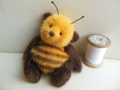 A Teddy Bumble Bee. Tiny Teddies, Charlie Bears, Love Bear, Cute Teddy Bears, Bear Doll, Bee Happy, Plush Animals, Stuffed Animals, Bees Knees
