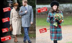 Meghan Markle shined in a £1,000 camel coat, as she made her Sandringham debut while, five-months pregnant Kate donned a £2,665 coat by Miu Miu.