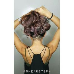 Stunning Wavy Long Hair & Cool Undercut Thanks @shearsteph #UCFeed #Undercut #Undercuts #ShavedNape ...