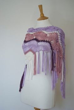 hairpin crochet shawl