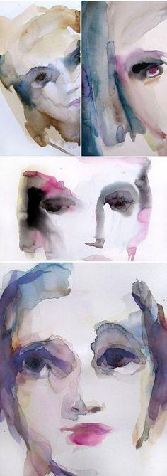 watercolor portraits by sylvia baldeva