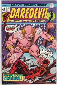 Daredevil #119 NM, Black Widow guests, Iron Man cameo, Gil Kane cover art. $30