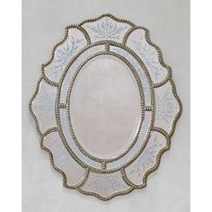 Found it at Wayfair.co.uk - Venetian Vintage Ribbon Mirror with Etching