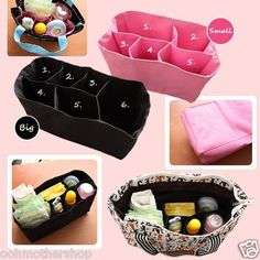 Nursing Baby Diaper Travel Tote Storage Bag Inner Organizer Milk Bottle Divider in Clothing Shoes & Accessories Couture Bb, Diaper Bag Organization, Catch, Baby On The Way, Everything Baby, Baby Needs, Baby Time, Baby Hacks, Baby Accessories