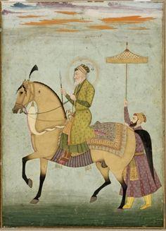 The_Emperor_Aurangzeb_on_Horseback_ca._1690–1710Император Аурангзеб верхом, ок. 1690-1710 гг., Музей искусства, Кливленд
