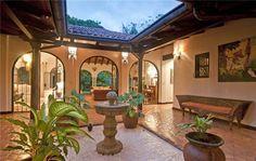 Hacienda-style courtyard