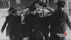 Removal of a dead body after the Halifax explosion. Halifax Explosion, Explosions, Global News, Nova Scotia, Police, Law Enforcement