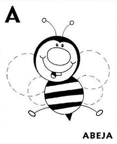Fichas Infantiles: Letras Grafomotricidad abecedario