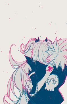 Natsu and Lucy.