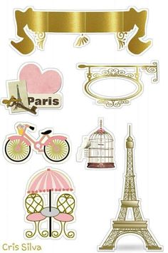 Paris Party, Paris Theme, Bolo Paris, Cake Logo, Silhouette Curio, Paper Cake, Ink Stamps, Print And Cut, Party Printables
