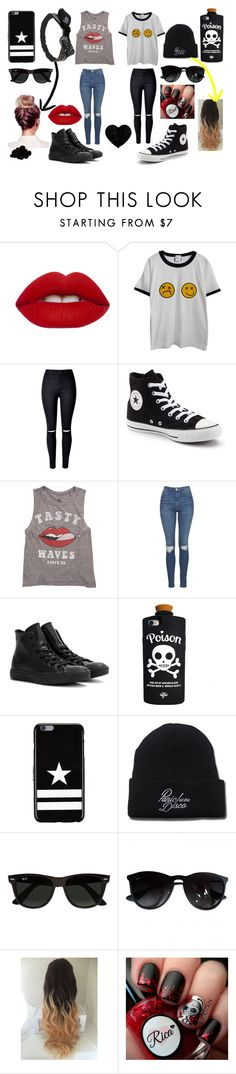 """2 'n' 1"" by kennajayce on Polyvore featuring Lime Crime, Chicnova Fashion, WithChic, Converse, Billabong, Topshop, Valfré, Givenchy and Ray-Ban"