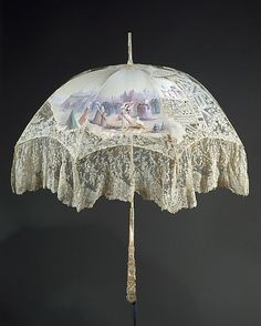 French parasol c.1896. Silk & ivory.
