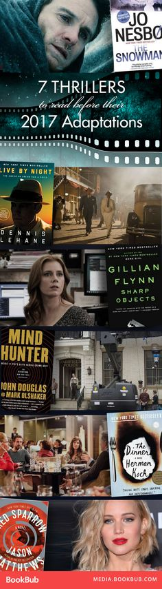 Must read these thriller books before they're made into movies this year!
