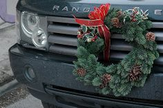 -Land Rover with Wreath in Scottsdale