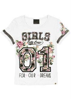 T-Shirt Feminina Lunender Hits Branco - Posthaus